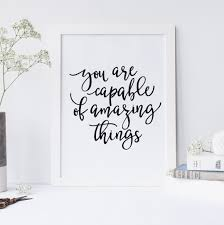 amazing twig star wall you are capable of amazing things quote inspirational quote office dec