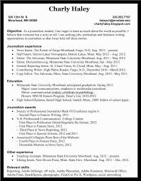 Cover Letter Journalist Resume Sample Sample Resume For Journalism