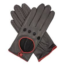 jules women s contrast leather driving glove black red