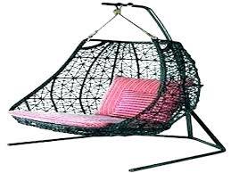 outdoor wicker swing chair hanging basket
