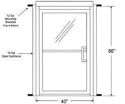commercial glass front doors