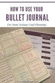 how to use your bullet journal for some serious goal planning