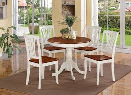 White Wood Kitchen Table Sets Round Kitchen Table Sets With Classic Design Home Decorating