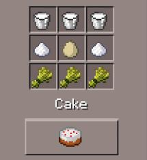 cake minecraft recipe. Minecraft (Pocket Edition) Cake Recipe W