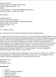 Best Photos Of Sales Representative Cover Letter Examples Sales