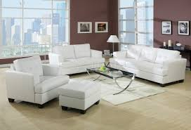 Contemporary leather living room furniture Family White Black Or Red Bonded Leather Living Room Sofa Woptions Furniture Depot Bonded Leather Living Room 15095 White