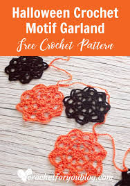 Halloween Crochet Patterns New Halloween Crochet Motif Garland Pattern Crochet For You