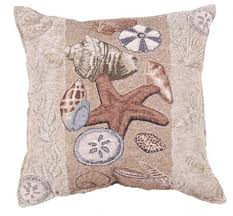 Amazon.com: Seashell Collection Beachside Decorative Pillow 17