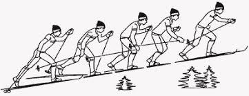Беговые лыжи Способы преодоления подъемов на лыжах Рис 20 Подъем скользящим шагом