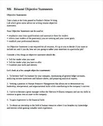 Objective Statement For Resumes General Resume Objective Statements Imcbet 48
