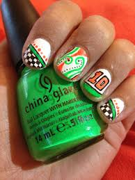 Nascar Nail Art Designs Danica Patrick Nail Art Nascar Nails Nascar Nails