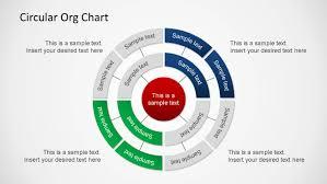 Circular Organizational Chart Powerpoint Diagram