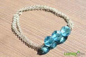 diy craft design how to make blue bead bracelet with chain pandahall com