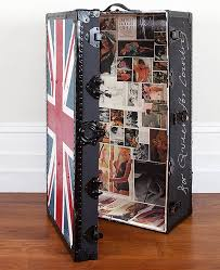 Union Jack Trunk With Images Of Naked Ladies