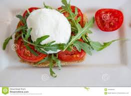 Light Mozzarella Cheese Nutrition Italian Style Toast With Light Bread Arugula Tomato And