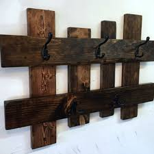 Distressed Wood Coat Rack With Shelf Custom Shop Reclaimed Wood Coat Rack On Wanelo