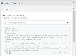 Another Word For Work Experience How To Use Microsoft Words Resume Assistant To Look For A New Job