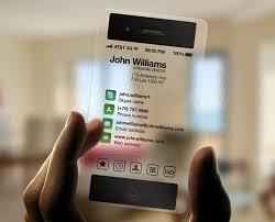 Unique Business Card Transparent Iphone Design Business Cards