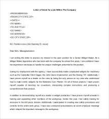 How To Write A Letter Of Intent For A Job 31 Letter Of Intent For A Job Templates Pdf Doc Free Premium