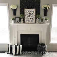 stencil your fireplace tiles