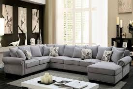 gray fabric sectional sofa. Fabric Sectional Sofa CM6156GY-0 Gray S