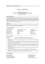 Resume Template. Resume Profile Examples - Sample Resume Template