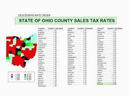 Ohio Sales Tax Chart By County Ohio Sales Tax Map State Sales Tax Ohio State Sales Tax Map