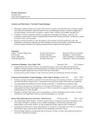 Commercial Property Manager Resume Resume And Cover Letter