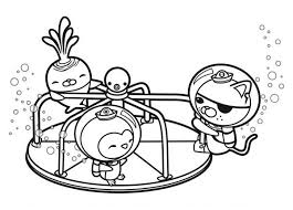 Small Picture The Octonauts Playing Together Coloring Page Download Print