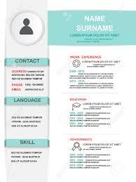 Resume Cv Template Infographics Achtergrond En Element Kan