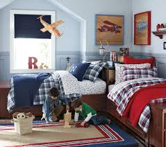 Bedrooms : Cool Shared Boys Bedroom With Modern Bunk Beds And ..