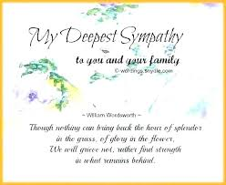Thank You Sympathy Cards Funeral Condolences Examples Onourway Co