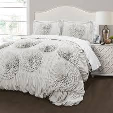 Light Gray Comforter Set Queen 3pc Full Queen Serena Comforter Set Light Gray Lush Decor