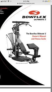 Weider 2980x Exercise Chart Download Bowflex Ultimate 2 Home Gym