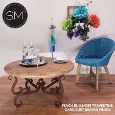 contemporary travertine coffee table
