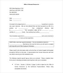 New Employee Welcome Letter Template Sample Form Biztree Com For