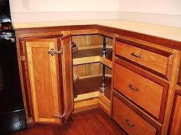 Image of: Corner Kitchen Cabinet Storage Wood