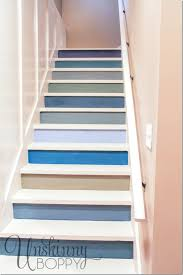 colorful painted staircase ideapainting wood white painting interior stairs black