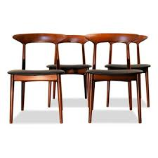 teak dining chairs by kurt Østervig for brande møbelindustri 1960s set of 4 2