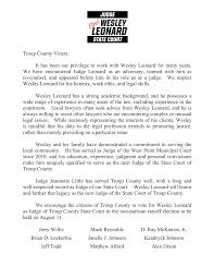 Elect Wesley Leonard State Court Judge - Photos | Facebook