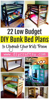 22 low budget diy bunk bed plans to upgrade your kids room diy bed ideas