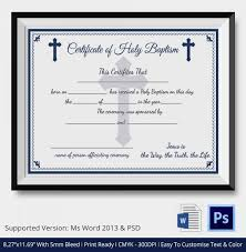 29 Images Of Church Baptism Certificate Template For Microsoft Word
