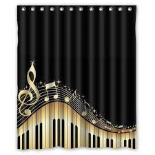 printed polyester shower curtain size 180x200 cm