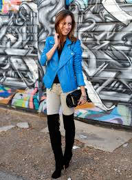 sydne style blue leather jacket victorias secret black