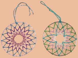 Beaded Dream Catchers Patterns Dream Catchers or Tree Decorations in variations of coloured 21