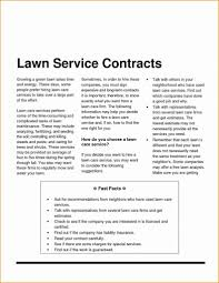 Mowing Contract Template Elegant Lawn Care Resume Sample New Lawn