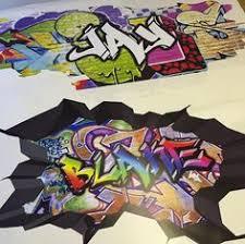 personalised name full colour graffiti wall decals by glitterblast on graffiti wall art bedroom with personalised custom graffiti name wall decals full colour wall art