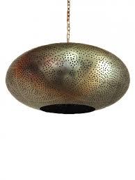 oriental ceiling lamp samina silver colored xl 45cm