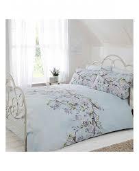 eloise fl king size duvet cover bedding set duck egg