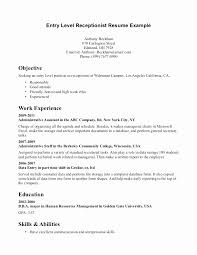 Receptionist Resume Objective Interesting Resume Samples For Receptionist With No Experience Fresh Dental Fice